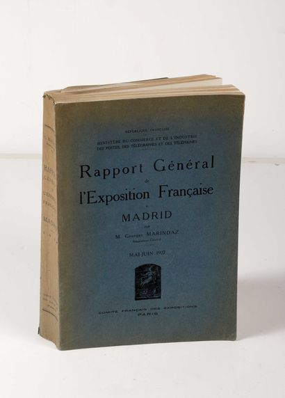 MARINDAZ, Georges. Rapport général de l'exposition...