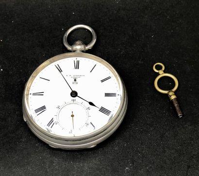 Montre à ancre en argent(chronomètre de...