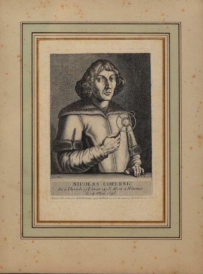 Nicolas Copernic (1473-1543)  Portrait dessiné...