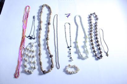 1 lot de bijoux fantaisies dont sautoir à...