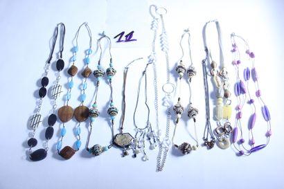 1 lot de bijoux fantaisies dont sautoir de...