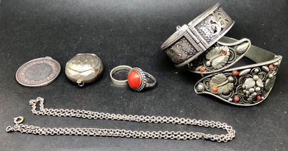 Petit ensemble de bijoux en argent, bijoux...