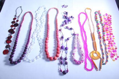 1 lot de bijoux fantaisies dont sautoirs...