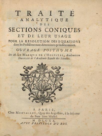 DE L'HOSPITAL, Le Marquis de. Traité analytique...