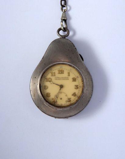 Deux montres à cylindre avec leurs boîtiers...