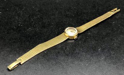 Montre de dame, bracelet maille souple en...