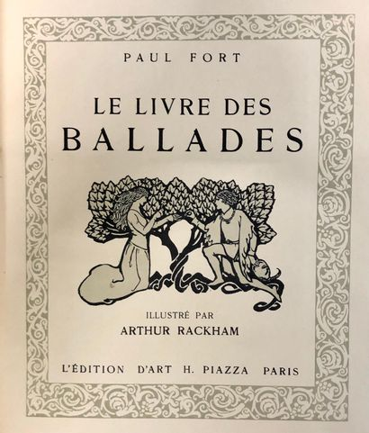 FORT, Paul – RACKHAM, Arthur. Le livre des ballades, Pari 1921.In-4°demi maroquin...