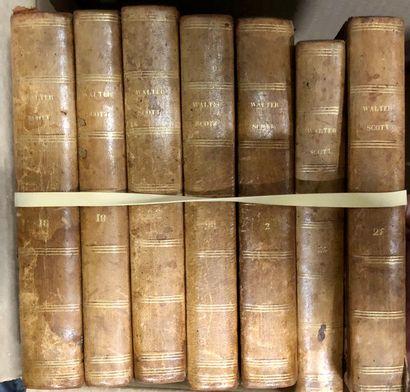 Livres de littérature, reliés. XIXe siècle
