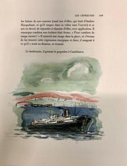 MONTHERLANT, Henri de. Les lépreuses, lithographies de Van Dongen. Gr in-4°, étui,...