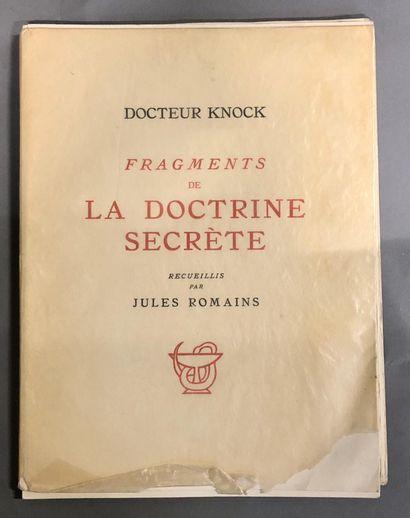 ROMAINS JULES  Docteur Knock, fragments de...