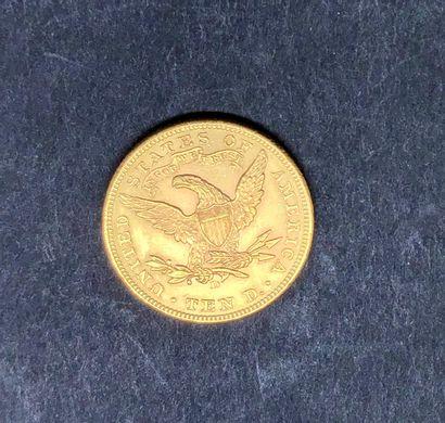 ETATS-UNIS  1 pièce de 10 dollars US or, 1906