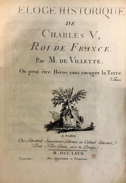 VILLETTE, Le Marquis de. Eloge historique...