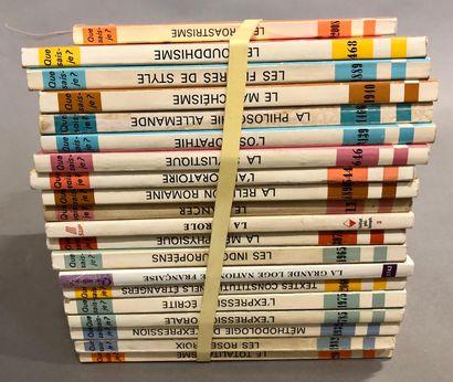 'Que sais-je,'.  38 volumes, médecine, philosophie...