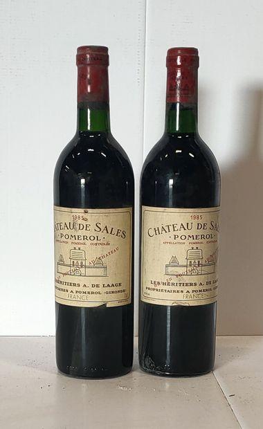 2 bouteilles  Château de SALES - Pomerol...