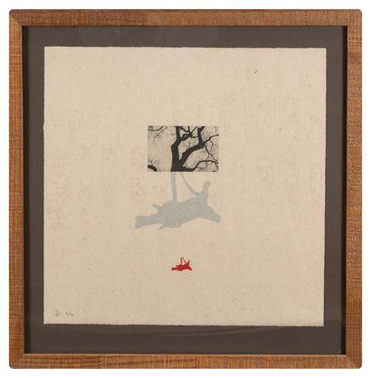 Nuria SOLSONA (XXe siècle)  Série de 8 haïkus  Tirage à 24 exemplaires, timbre à...