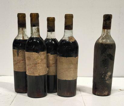 5 bouteilles  4 Château DAUPHINE RONDILLON...