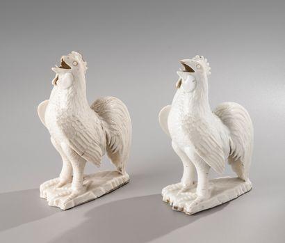 CHINE, XVIII-XIXe siècle  Paire de statuettes...