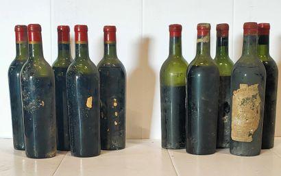 10 bouteilles  BORDEAUX DIVERS dont : 5 bouteilles...