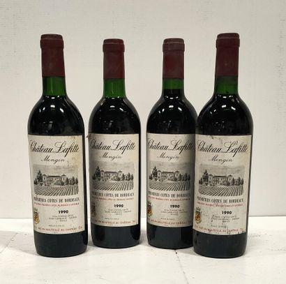 4 bouteilles  Château LAFITTE Mengin - 1ères...