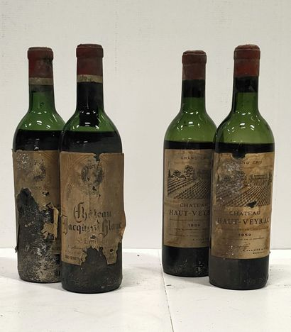 4 bouteilles  SAINT EMILION DIVERS dont :...