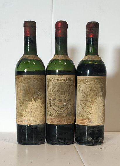 3 bouteilles  Château PICHON LONGUEVILLE...