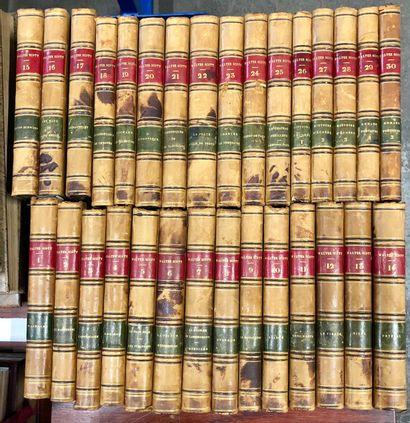 Walter SCOTT  Oeuvres complètes  30 volumes...