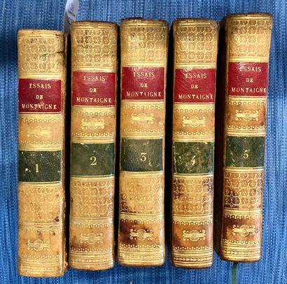 MONTAIGNE  Essais en 6 volumes  Lefèvre Libraire,...