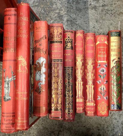 Ensemble de romans illustrés, in-4° dont...