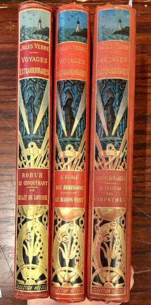 Jules VERNE  3 volumes in-4° illustrés des...