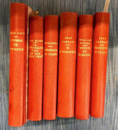 Ensemble de livres in-8°, reliures modernes...