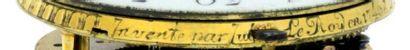 Montre émaillée avec échappement à double roue de rencontre, signée 'Julien Le Roy...