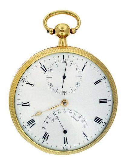 Montre en or à tourbillon avec thermomètre,...