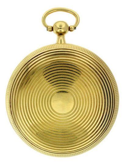 Montre en or à tourbillon avec thermomètre, non signée, attribuable soit à Houriet,...