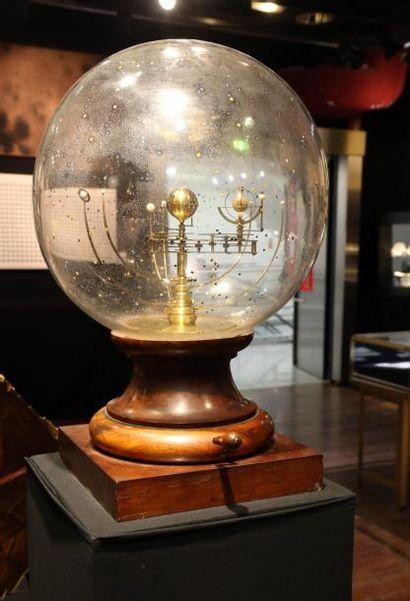 Planétaire Copernicien et globe stellaire du système Bertaux, deuxième moitié du...