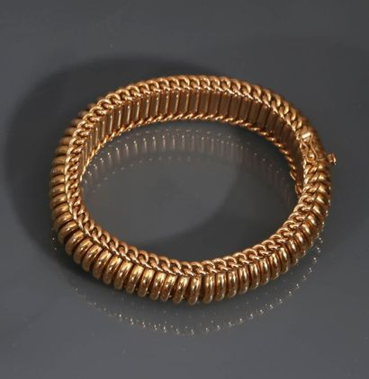 Bracelet en or jaune 18K (750°/00) à maillons...