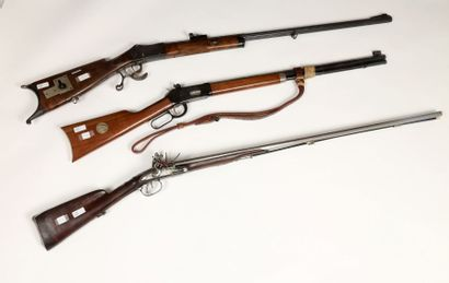 Fusil de chasse à silex, deux coups. Canons...