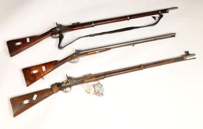 Fusil de chasse à percussion. Canons en table,...