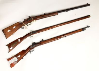 Forte carabine de tir à percussion, calibre...