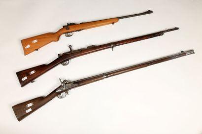 Fusil Chassepot modèle 1866. Canon rond avec...