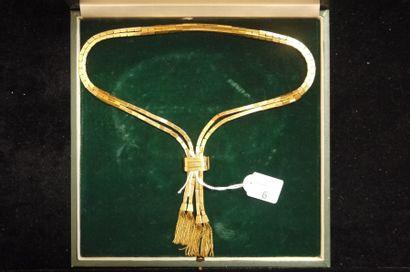 Collier en or jaune étranger 18K (750°/00,...