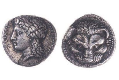 BRUTTIUM, Rhégium (vers 350 av.). Tétradrachme...