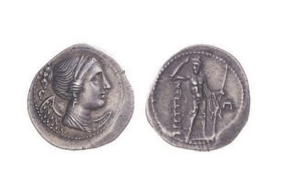 BRUTTIUM, Les Brettiens (215-205). Drachme...