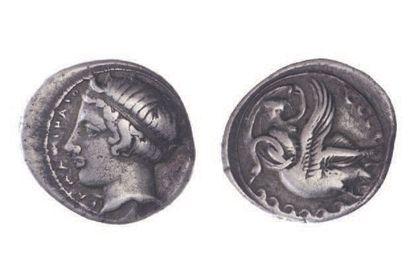SICILE, Léontini (466-425). Tétradrachme...
