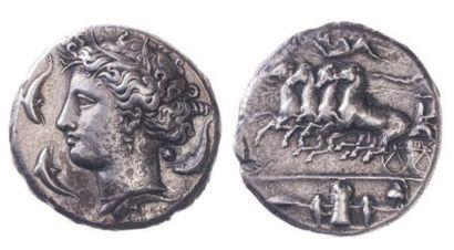 SICILE, Syracuse (vers 405). Décadrachme...
