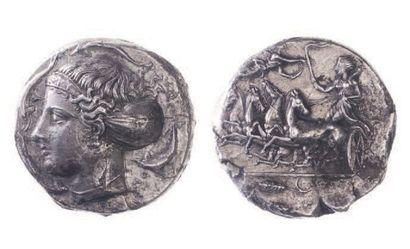 SICILE, Syracuse (vers 410 av.). Tétradrachme...