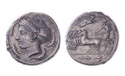 SICILE, Syracuse (425-413). Tétradrachme...