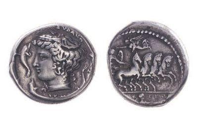 SICILE, Syracuse (412-385). Tétradrachme...