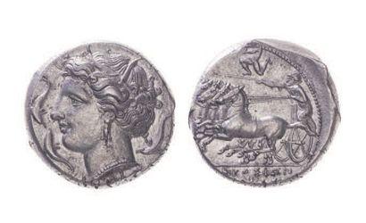 SICILE, Syracuse (317-305). Tétradrachme...