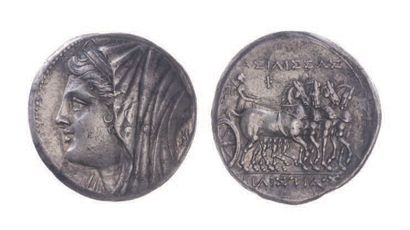 SICILE, Syracuse (275-215). 16 litrae d'argent...