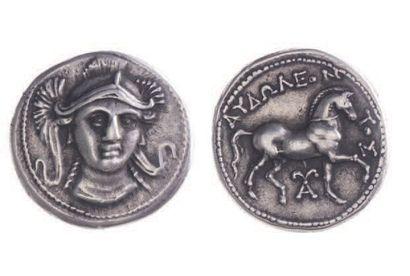 PÉONIE, Audoléon (315-286). Tétradrachme...